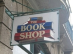 Book shop sign at Liskeard