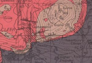 Extract of BGS geological map.