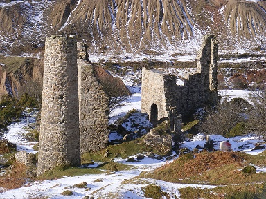 Sump shaft engine houses in the snow