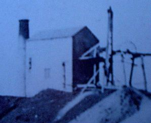 South Caradon Sump Shaft pumping engine house in the 1880s.