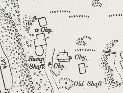South Caradon Mine Sump Shaft area in 1906