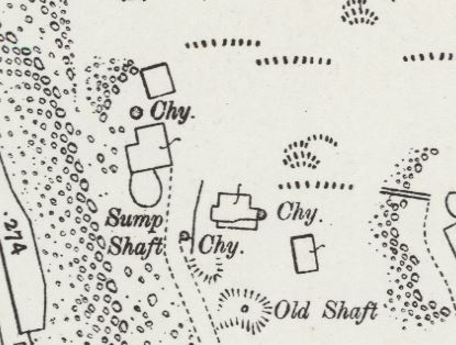 South Caradon Mine Sump Shaft area in 1906