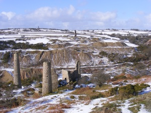 South Caradon Mine Sump Shaft in the snow