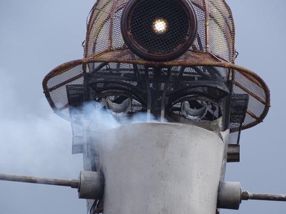 The Man Engine drinks