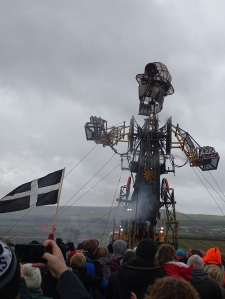 The Man Engine and St.Piran's flag