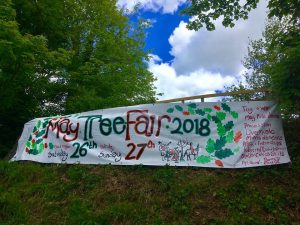 May Tree Banner 2018, at the 'Rec'