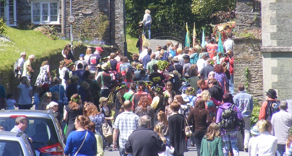 May Tree fare procession at St. Germans
