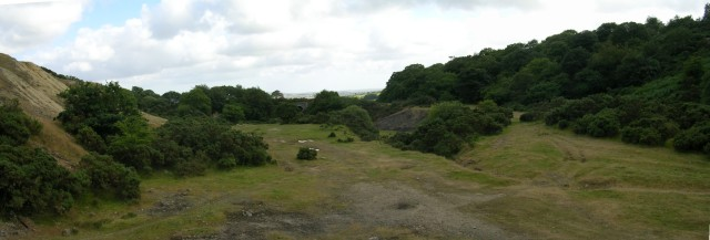 South Caradon Mine's dressing floor, looking south