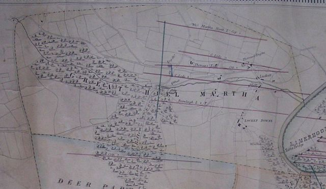 Great Huel Martha Map 1848