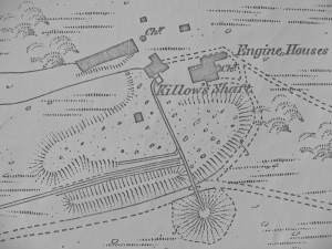 OS 1880 map of Kittow's Shaft South Caradon Mine